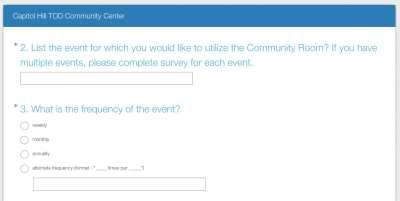 Capitol Hill TOD Community Center Survey