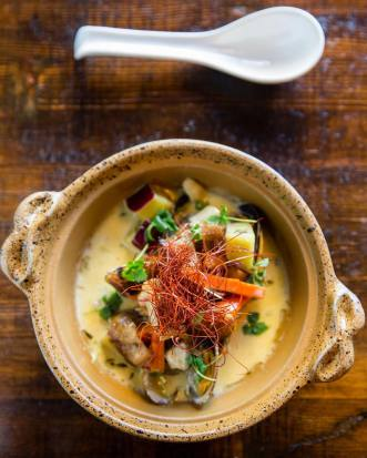 Miso clam chowder