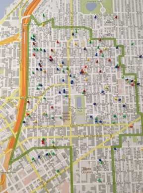 A pin map showing where around the Hill Summit attendees lived (Image: @outseide)