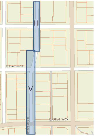 Harvard and Villard streets original alignment