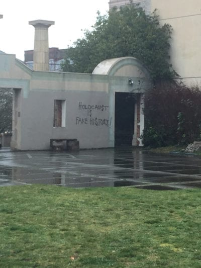 The message that targeted Temple De Hirsch Sinai last week