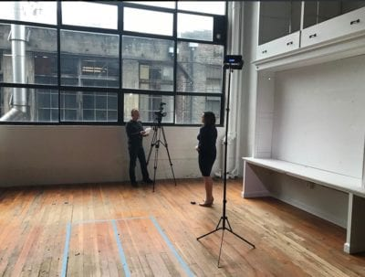 A recent The Riveter video shoot in the under construction space