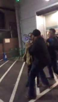 Uncle Ike's Ian Eisenberg appeared to set off a few small scuffles as he rushed toward a speaker when Saturday night's protest targeted his Uncle Ike's pot shop. The full video is below.