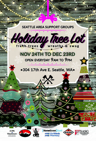 28th annual SASG Seattle Area Support Groups tree sale