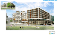A rendering of the future development set to border Cal Anderson surrounding the future Capitol Hill Station plaza