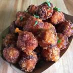 Sweet potato tots w:Korean chili salt
