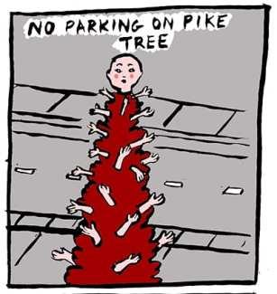 No Parking on Pike Tree