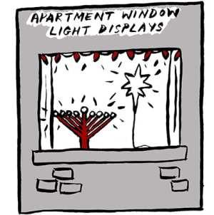 Apartment Window Light Displays