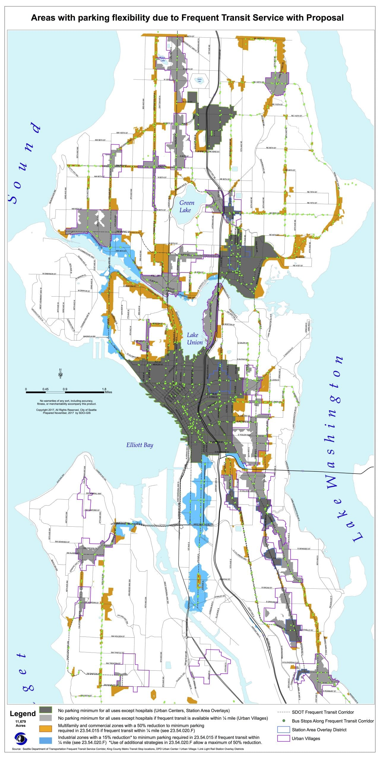 Seattles Neighborhood Parking Reform reduced requirements