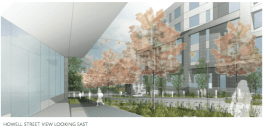 A rendering of the view up E Howell