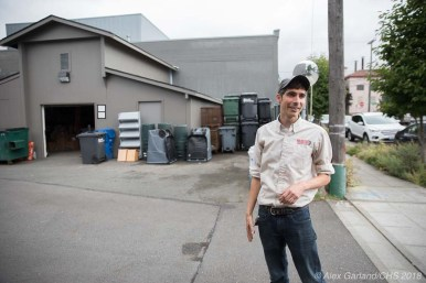 Seattle U has its own recycling center