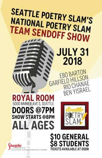 Seattle Poetry Slam National Team Send Off Show | CHS Capitol Hill