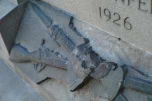 Confederate Memorial vandalized