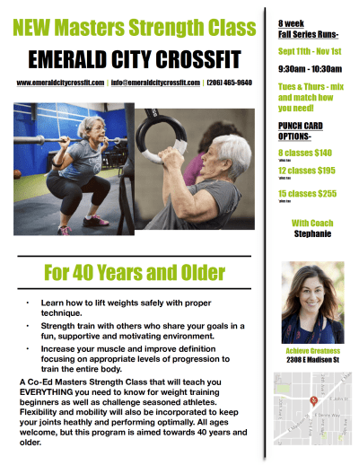 Masters Strength Class @ Emerald City CrossFit