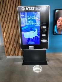 A kiosk to purchase new AT&T services