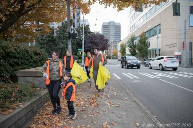 A FHIA work day helped clean up the neighborhood this fall (Images: CHS)