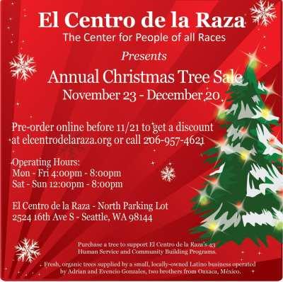 Christmas Tree Sale at El Centro de la Raza @ El Centro de La Raza