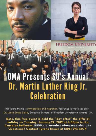 Seattle U Dr. Martin Luther King Jr. Celebration @ Campion Ballroom, Campion Tower, located on the Seattle University campus