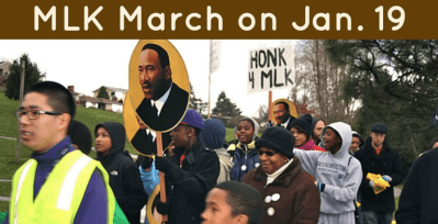 Youth-organized MLK March @  Rainier Community Center