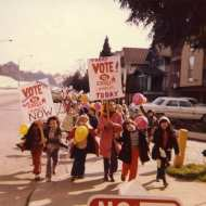 Seward School students get out the vote (Seattle Schools Archive 271-180)