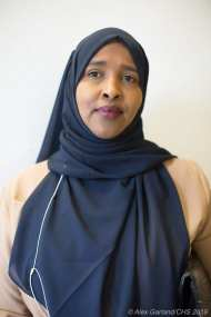 """Ubah Warsame - """"I am here to support Kshama because I have worked with her during the $15 minimum wage and Seattle Housing Authorities Stepping Forward. I believe how she represents marginalized people, low income people, and people in general. I don't think she is someone who has barriers between her and the people she represents. We need someone the people can go directly and talk to her and not worry about if she isn't listening to you and the issues you're concerned with. Not only listen, but will take steps and do something about what matters to people. I believe in that and that's why I'm here to support Kshama."""""""