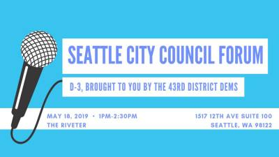 District 3 City Council Candidate Forum @ The Riveter