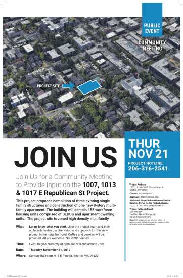 Community Meeting: 1007, 1013 & 1017 E Republican St