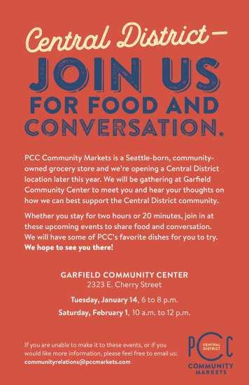 PCC Community Meetings @ Garfield Community Center