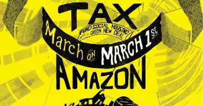 Tax Amazon! March on March 1 @ Cal Anderson Park Fountain