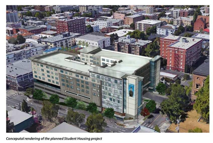 Student housing rendering