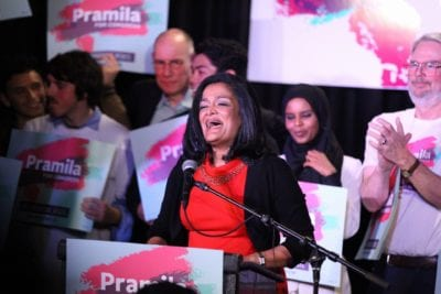 Jayapal on Election Night 2016