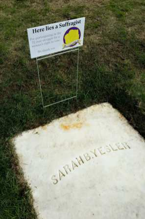Sarah Yesler placard