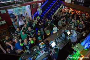 An R Place Super Bowl party packed them in (Image: CHS)