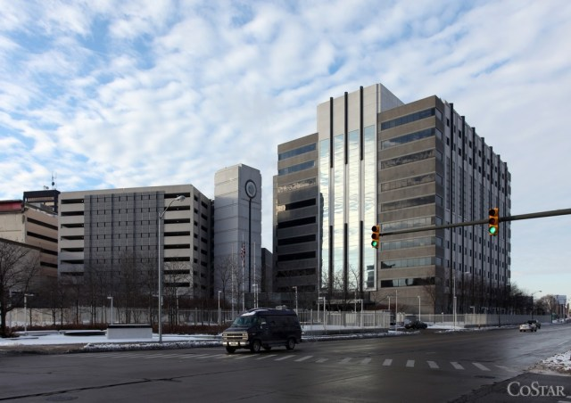 985 Michigan Avenue was built for IRS and includes a The building was built for IRS and includes a three-level computing and data center. Now, with IRS downsizing, GSA will renovate the building and backfill with other federal tenants. (photo: CoStar)
