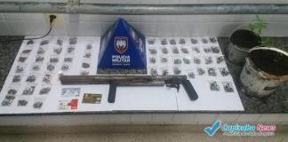 Menor é detido com drogas e arma em Guarapari