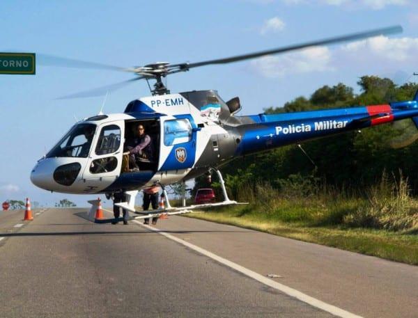 Foto Ilustrativa: Esse é o helicóptero que foi usado na operação de busca hoje.