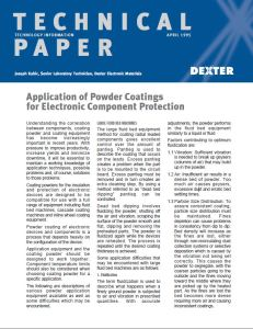 Application of Powder Coatings for Electronic Component Protection
