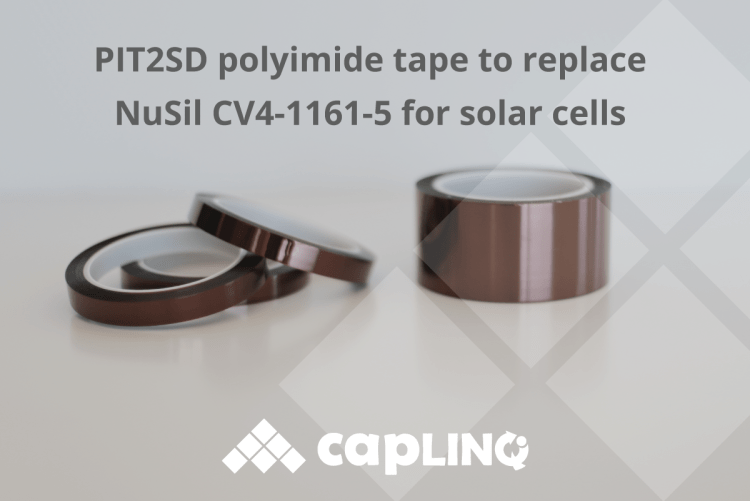 PIT2SD polyimide tape to replace NuSil CV4-1161-5 for solar cells