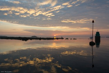 Hoedic島の夕日