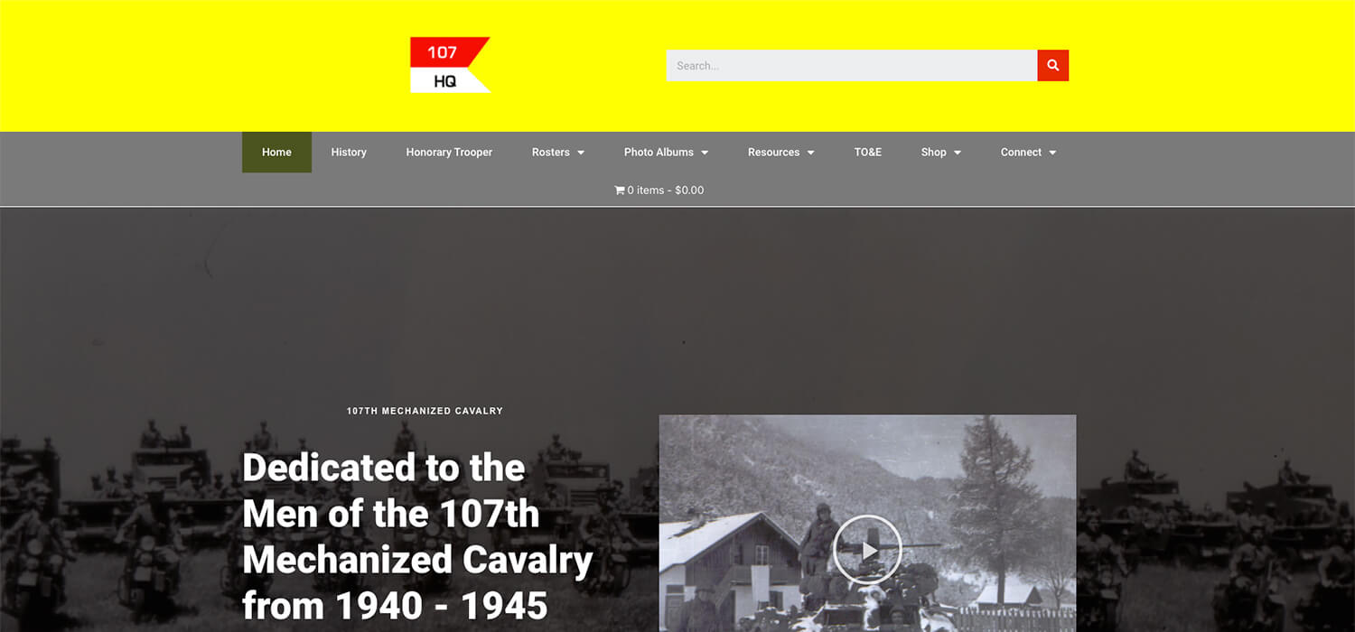 107th Mechanized Cavalry Reconnaissance Squadron WWII