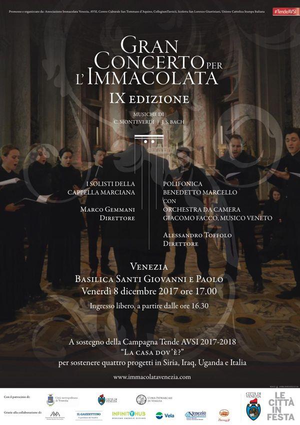 Locandina gran concerto per l'Immacolata 2017