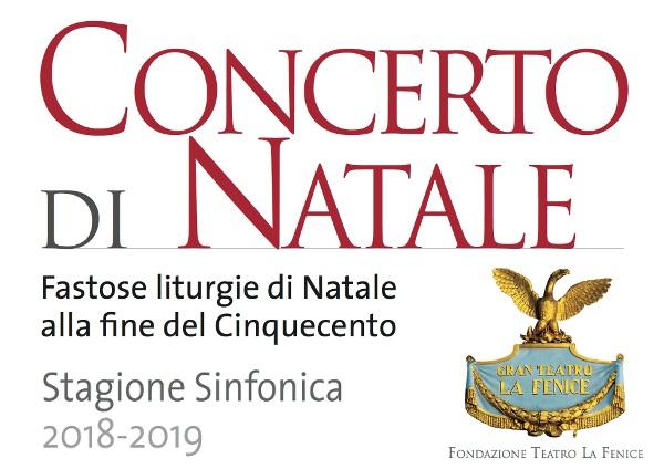 locandina fenice - concerti natale 2018