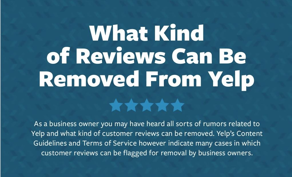 Remove Yelp Reviews