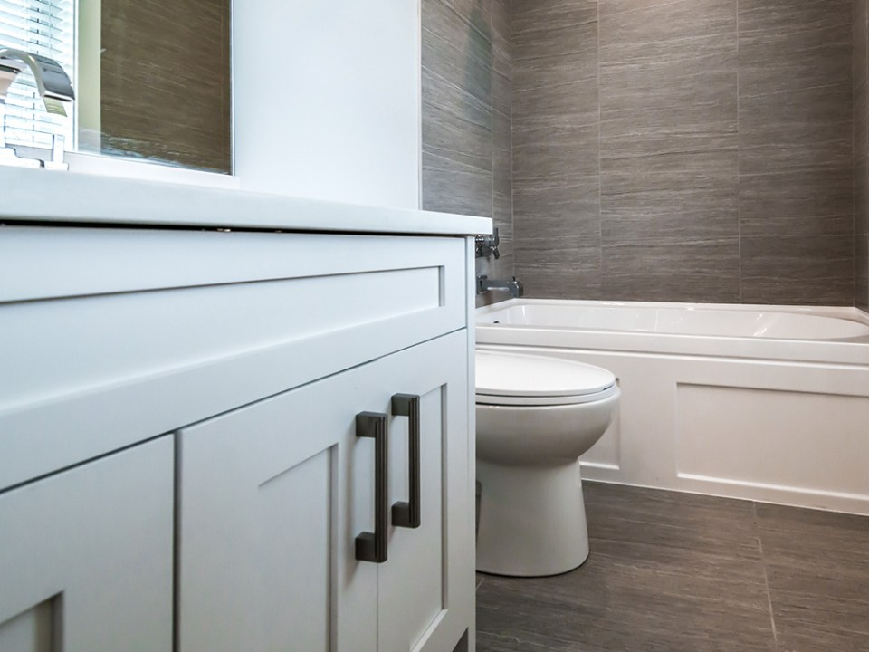 Modern Bathroom with sink tub and toilet
