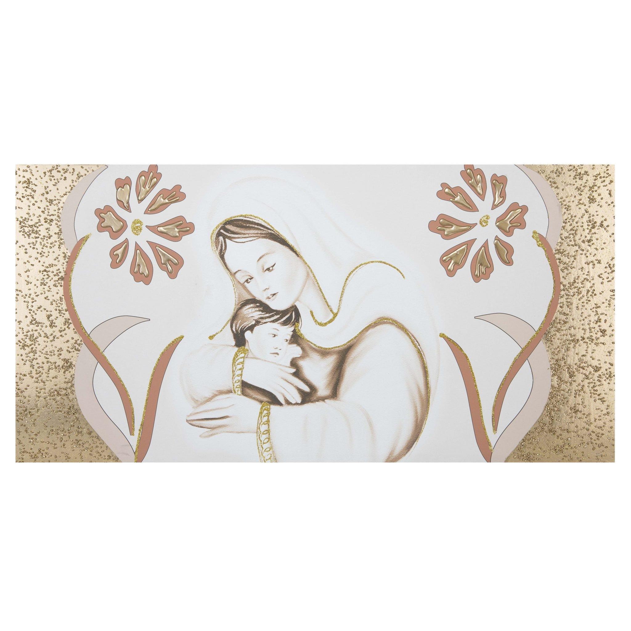 Capezzale quadretti sacra famiglia della lupia. Capezzale Su Tela Per Camera Da Letto Maternita Fiori Oro
