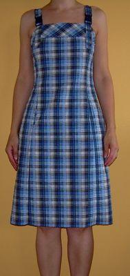 Kleid aus Seersucker