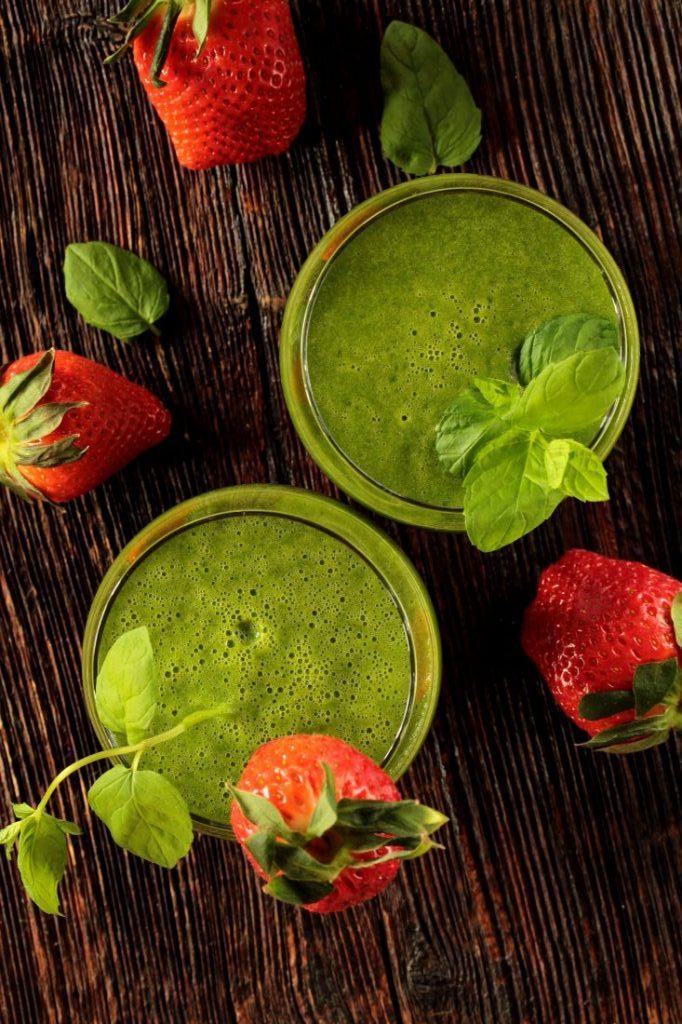 Smoothie spiruline fraise