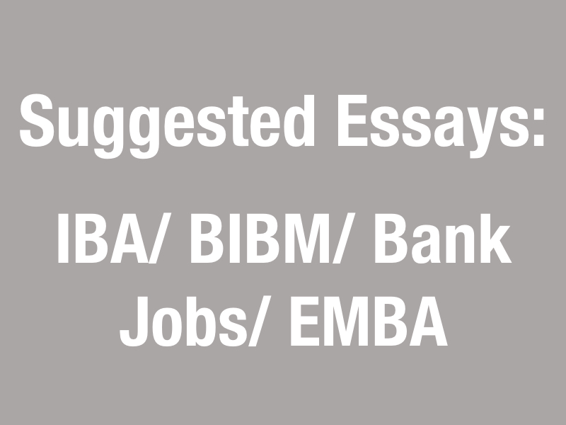 Suggested Essays