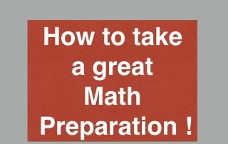 Math preparation