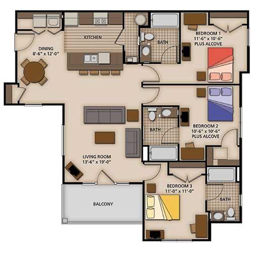 Three Bedroom Standard